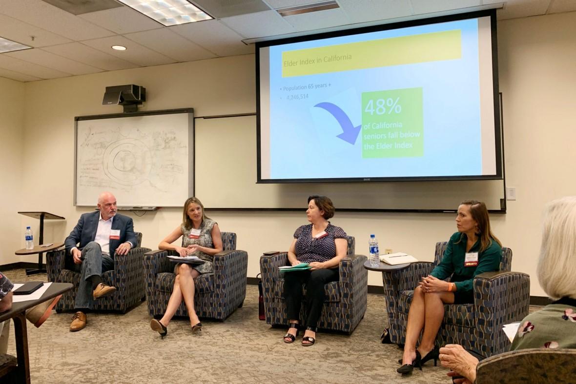 Panel participants (l-r) Joe Gavin, Melinda Forstey, Simonne Ruff, and Rebecca Louie